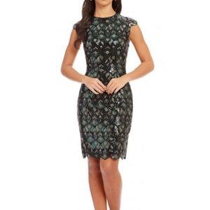 Katherine Kelly Gwen Sequin Cap Sleeve Dress